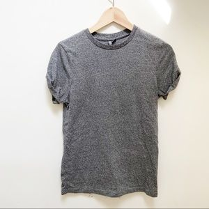 ASOS gray rolled up sleeves knit top XS